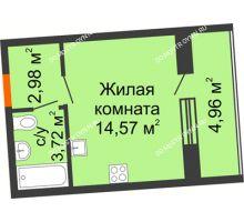 Студия 23,75 м² в ЖК АВИА, дом № 2 - планировка