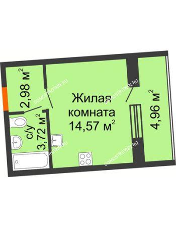 Студия 23,75 м² в ЖК АВИА, дом № 2