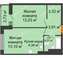 1 комнатная квартира 44,65 м² - ЖК Олимпийский