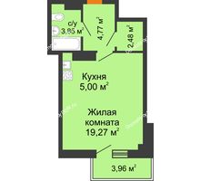 Студия 36,56 м² в ЖК Сокол на Оганова, дом Литер 5 - планировка