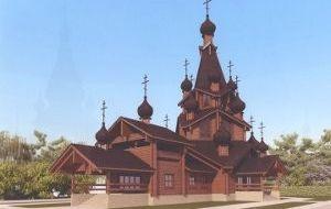 Храмовый комплекс удеревни Новопокровское вСоветском районе