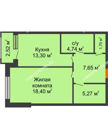 Студия 52,3 м² - ЖК Сергиевская Слобода