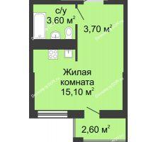 Студия 23,3 м², ЖК Сказка - планировка