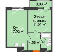 1 комнатная квартира 39,78 м² в ЖК Город времени, дом № 18