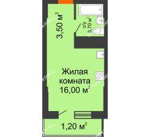 Студия 24,4 м², ЖК Клубный дом на Мечникова - планировка