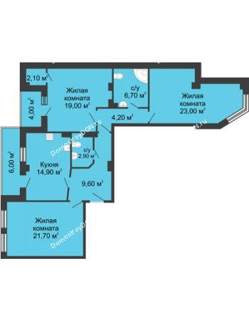 3 комнатная квартира 109,6 м² - ЖК Дом на Береговой