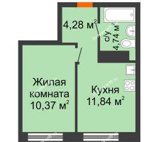 1 комнатная квартира 31,23 м² в ЖК Первая Линия. Гавань, дом № 2.3 - планировка