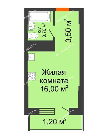 Студия 24,4 м² - ЖК Клубный дом на Мечникова