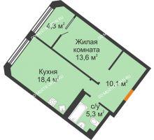1 комнатная квартира 51,7 м² - ЖК Симфония Нижнего