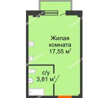 Студия 21,88 м² в ЖК Лайм, дом № 1 - планировка