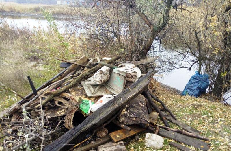 Реку Грушевскую в Новочеркасске очистили от мусора