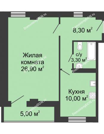 1 комнатная квартира 51 м² - ЖК Дом на Береговой