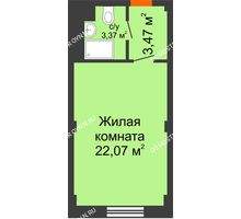 Студия 28,91 м², Апарт-Отель Гордеевка - планировка