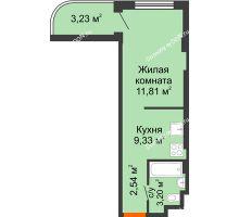 1 комнатная квартира 24,65 м² - ЖК Уютный дом на Мечникова