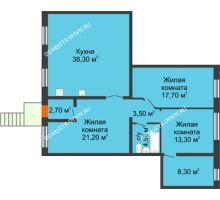 3 комнатная квартира 109,5 м², Жилой дом: г. Дзержинск, ул. Кирова, д.12 - планировка